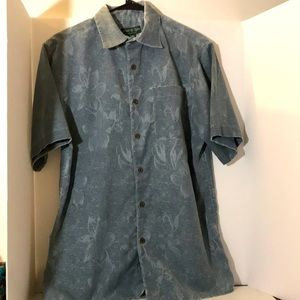David Taylor size s button down blue, white shirt